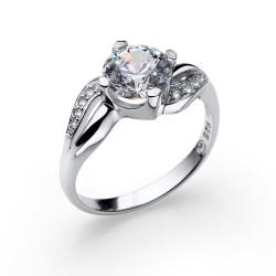 Stříbrný prsten Oliver Weber Success - 63232 (crystal)