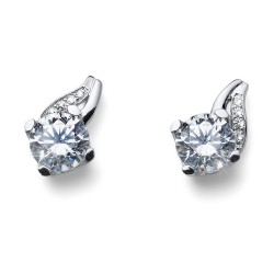 Stříbrné náušnice Oliver Weber Success - 62082 - Ag925 (crystal)