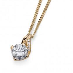 Stříbrný přívěsek Oliver Weber Success - 61139 - Ag925 (gold CZ crystal)