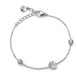 Náramek Oliver Weber Love Steel - 32224 (crystal)