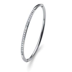 Náramek Oliver Weber Plain Steel - 32222 (crystal)