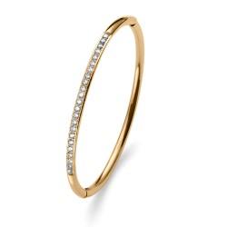 Náramek Oliver Weber Plain Steel - 32222 (gold crystal)