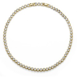 Náhrdelník Oliver Weber Tennis - 11910 (gold crystal)