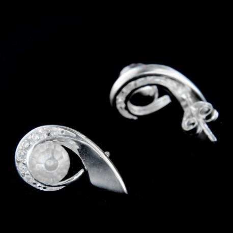 Stříbrné náušnice E168
