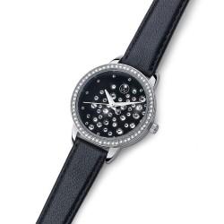 Dámské náramkové hodinky Oliver Weber Stars - 65057 (leatherstrap black)