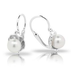 Dětské stříbrné náušnice s perličkou C2394-10