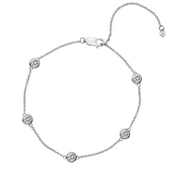 Stříbrný náramek Hot Diamonds Willow DL580