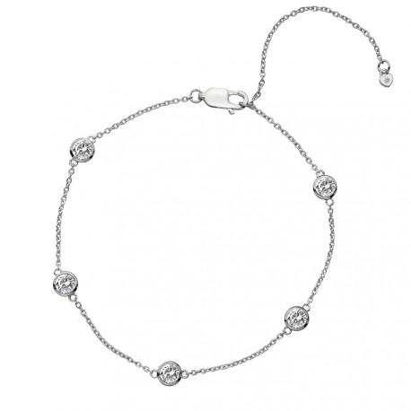 Stříbrný náramek Hot Diamonds Willow DL580