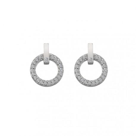 Stříbrné náušnice Hot Diamonds Flora DE580