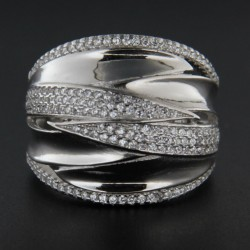 Stříbrný prsten R2223
