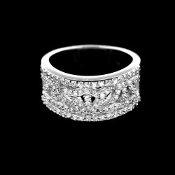 Stříbrný prsten R412