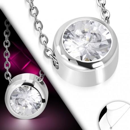 Decentní náhrdelník zdobený kamínkem