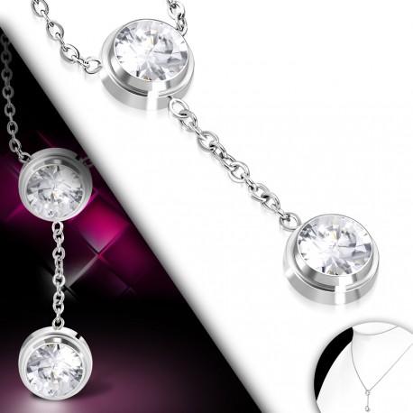 Elegantní náhrdelník zdobený kamínky