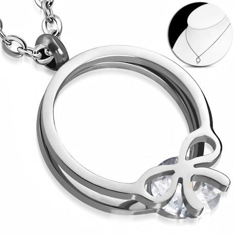 Elegantní náhrdelník se zavěšeným prstýnkem