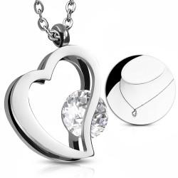 Elegantní náhrdelník s dvojitým srdcem