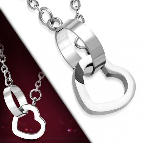 Elegantní náhrdelník Heart Connected