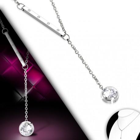 Decentní náhrdelník se zavěšeným kamínkem
