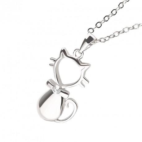 60a53759b Stříbrný přívěsek ve tvaru kočky - NAUSNICE.CZ