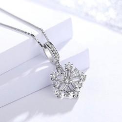 Stříbrný přívěsek Snowflake
