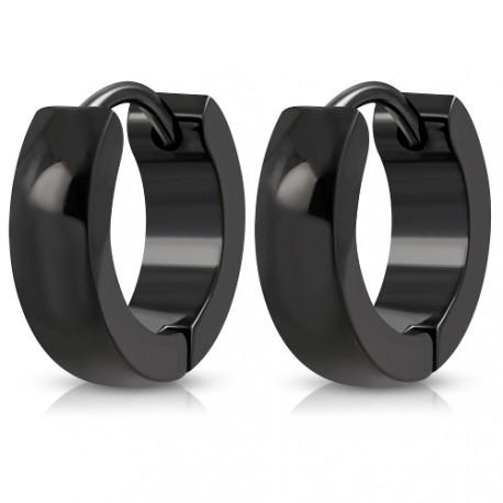 Ocelové kroužky - černé