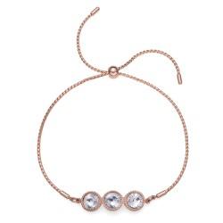 Náramek Oliver Weber Joy - 32239 (rosegold crystal)