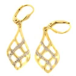 Zlaté náušnice E10156-2204