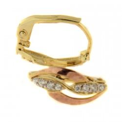 Zlaté náušnice E10500-411-2