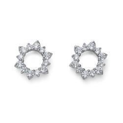Stříbrné náušnice Oliver Weber Sunly - 62084 - Ag925 (crystal)