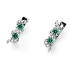 Stříbrné náušnice Oliver Weber Paso - 62088 - Ag925 (green)
