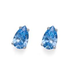 Stříbrné náušnice Oliver Weber Pear - 62089 - Ag925 (blue)