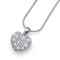Stříbrný přívěsek Oliver Weber True Love - 61147 - Ag925 (crystal)