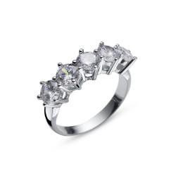 Stříbrný prsten Oliver Weber Friend - 63235 (crystal)