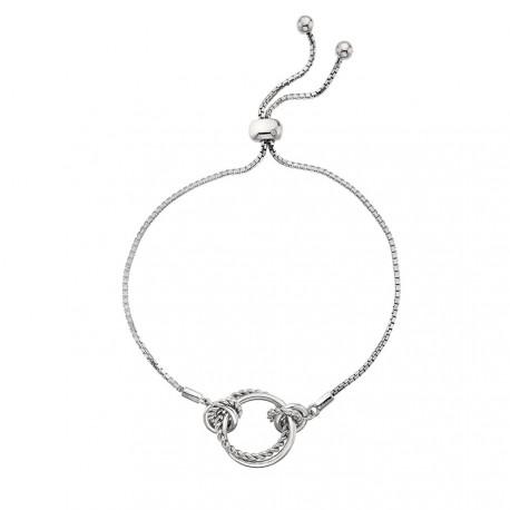 Stříbrný náramek Hot Diamonds Jasmine DL594