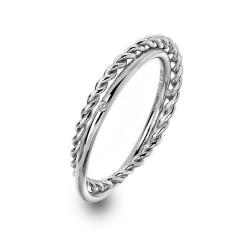 Stříbrný prsten Hot Diamonds Jasmine DR210