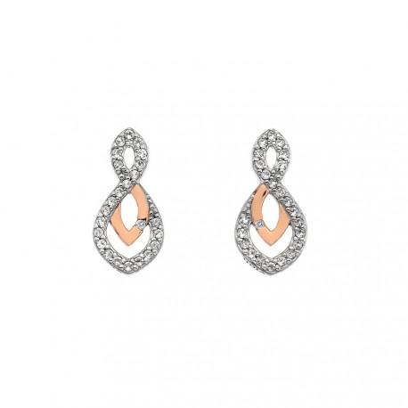 Stříbrné náušnice Hot Diamonds Lily RG DE608