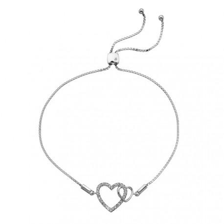Stříbrný náramek Hot Diamonds Flora DL589