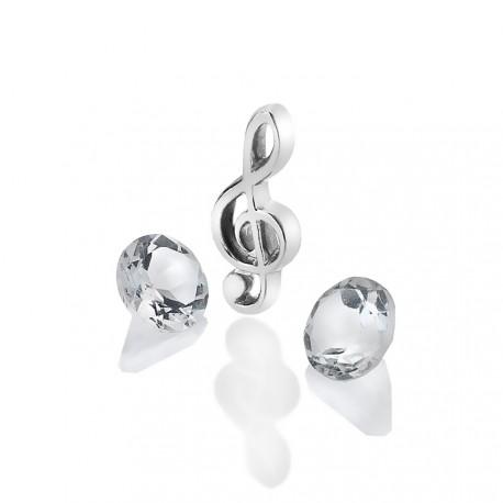 Stříbrný přívěsek Hot Diamonds Anais topaz element AC122