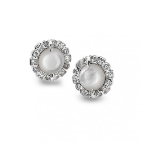 Stříbrné náušnice Hot Diamonds Emozioni Iridesente EE033