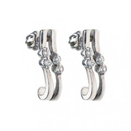 Luxusní ručně vyráběné stříbrné náušnice