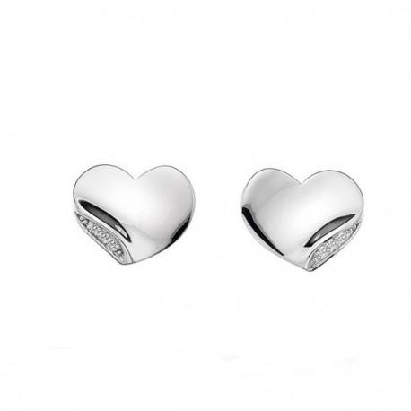 Stříbrné náušnice s diamanty Hot Diamonds Simply Sparkle