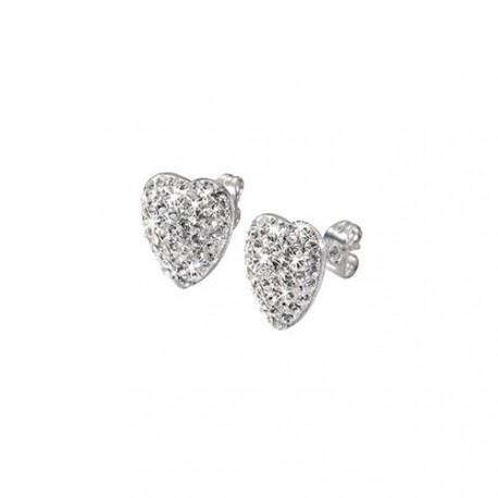 Dámské náušnice s krystaly Morellato Heart