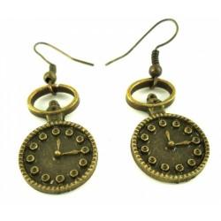 Vintage náušnice - hodiny OKU-70