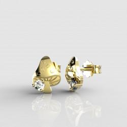 Dětské zlaté náušnice BeKid - 1272 muchomůrka (žluté zlato Au585)