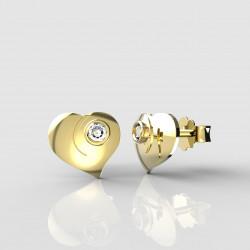 Dětské zlaté náušnice BeKid - 1283 srdíčko (žluté zlato Au585)
