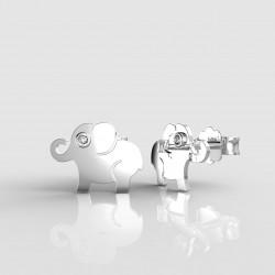 Dětské zlaté náušnice BeKid slon - 1282 03 (bílé zlato Au585