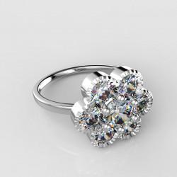 Dětský zlatý prsten BeKid kytička - 140 (bílé zlato Au585