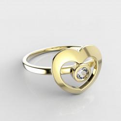 Dětský zlatý prstýnek BeKid - 848 (žluté zlato Au585)