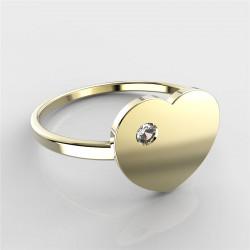 Dětský zlatý prstýnek BeKid - 847 (žluté zlato Au585)