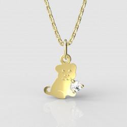 Dětský zlatý přívěsek BeKid - 1281 štěně (žluté zlato Au585)