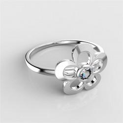 Dětský zlatý prsten BeKid květina - 833 (bílé zlato Au585